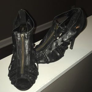 "Steve Madden ""Raptor"" zip peep toe heels"
